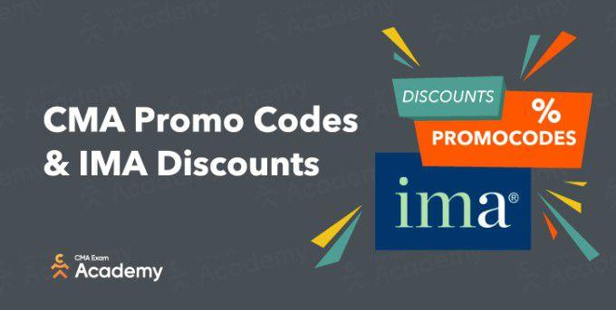 CMA promo codes & IMA discounts